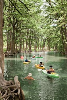 Summer fun in Texas! Medina River, Texas Hill Country~ kayaking- This looks fun. I have taken several vacations in Hill country but next time I will make a stop by Medina River. It looks so fun! Texas Hill Country, Voyage Au Texas, Viaje A Texas, Medina River, Destination Voyage, Texas Travel, Camping In Texas, Kayak Camping, Kayaking Trips