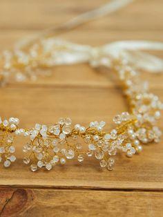 Wedding Hair Wreath Bridal Hair Accessories by DavieandChiyo
