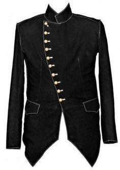 100 Handmade Mens Military Style Nubuck Leather Steampunk Jacket | eBay