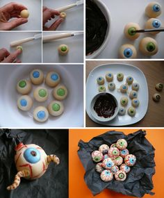 almond and smarties eyes... booh !