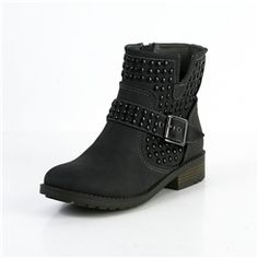 Fashionable Black Rivet Boots
