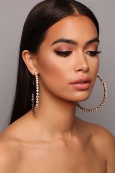 Diamond Hoop Earrings Looking Expensive Hoop Earrings - Gold. Platinum Earrings, Diamond Hoop Earrings, Diamond Studs, Crystal Earrings, Silver Earrings, Dangle Earrings, Silver Ring, Pendant Necklace, Hoop Earrings Outfit