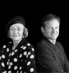 Beautiful Portrait of Robin Williams and his Mother- Laurie Robin Williams, Madame Doubtfire, Captain My Captain, Star Wars, People Of Interest, Mother Son, Good Will Hunting, Man Humor, Movies