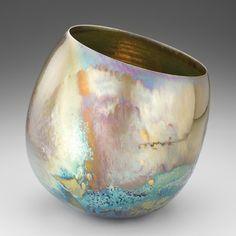 Greg Daly's 'Approaching Storm', luster-glazed ceramic, Glazes For Pottery, Ceramic Pottery, Pottery Art, Slab Pottery, Ceramic Bowls, Ceramics Monthly, Japanese Pottery, Pottery Studio, Glazed Ceramic
