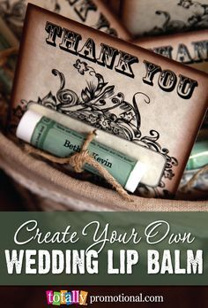 Create your own custom #wedding lip balm to create a wedding favor that your guests will love and never leave home without! We offer 31 different lip balm flavors and hundreds of customizable designs to choose from as your options are endless!