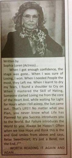 Written by Sophia Loren
