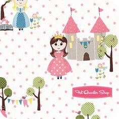 Happy Ever After Pink Princess Toss Yardage SKU# C3111-PINK - Fat Quarter Shop