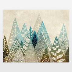 Mountain Tops Art Print by rosebudstudio on BoomBoomPrints