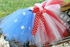 What an adorable Tutu for the 4th of July!
