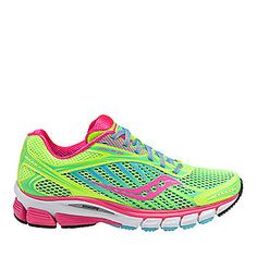 Saucony Ride 6 Running Shoes in Citron/Pink.