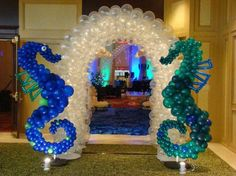 We had a great time setting up this years Homecoming Dance. Under The Sea Decorations, Balloon Decorations, Birthday Party Decorations, Horse Balloons, Balloon Arch, Under The Sea Theme, Under The Sea Party, Ballon Arrangement, Underwater Party