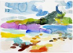 "Saatchi Online Artist: Christian Hübner; Watercolor Painting ""Merger"""