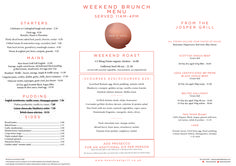 Saturday & Sunday Brunch | New Street Grill Menu | D&D London