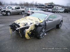 Aston Martin DBS crashed in New York
