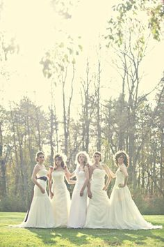 I need this photo with my sisters in our wedding dresses :-) If I ever get married... or I can just rent one and be in the pic anyways! @Ally Squires Link @Kathy Chan Wilde Barney @Kaitlyn Marie Barney