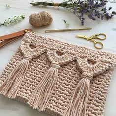 Crochet Home, Love Crochet, Crochet Gifts, Crochet Baby, Knit Crochet, Crochet Purse Patterns, Crochet Clutch, Crochet Purses, Crochet Stitches