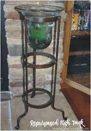 This candle holder made fish tank is one of my very favorite repurposed items, I love it and it was so easy! Old Candles, Vintage Candles, Candle Stand, Candle Holders, Garage Sale Finds, Repurposed Items, Antique Decor, Vintage Fishing, New Crafts