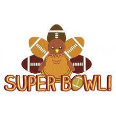 Super Bowl Turkey Filled Machine Embroidery Design Digitized Pattern #football…