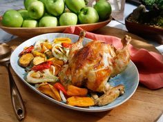 Hot Tub Chicken with Roasted Fennel and Sweet Potato recipe from Jeff Mauro via Food Network