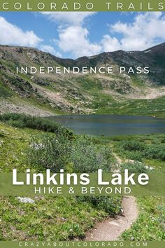 Linkins Lake Trail is short, steep, and gorgeous. For such a small adventure it is packed with everything Colorado. Take a break from the crowds near Aspen, CO, and take in this beauty that starts above the treeline to an Alpine Lake. Colorado Lakes, Colorado Trail, Day Hike, Day Trip, Snowboard, Scotland Hiking, Waterfall Trail, Hiking Europe, Twin Lakes