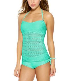 609c6209f3f1e Another great find on #zulily! Tahiti Crochet Halter Bikini Top #zulilyfinds  Halter Bikini