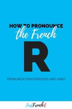 The French R pronunciation is not easy for English natives. But with a little bit of help you'll soon be pronouncing them as correctly as a French native! French Phrases, French Words, Study French, Learn French, English French Dictionary, French For Beginners, French Expressions, How To Pronounce, Grammar And Vocabulary
