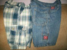 size 12/14 2 pair boys SHORTS (arizona,premier )