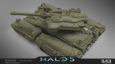 The all new Scorpion tank from Halo 5 Ancient Alphabets, Halo Series, Halo 5, Lego, Sci Fi Armor, Sci Fi Ships, Weapon Concept Art, Battle Tank, Military Weapons