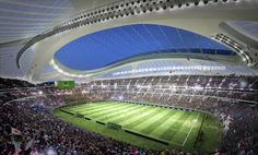 Zaha Hadid is working with Nikken Sekkei to win back the Tokyo 2020 Olympic stadium project, after its first competition-winning design was thrown out Architectes Zaha Hadid, Zaha Hadid Architects, Zaha Hadid Interior, Hadid News, Tokyo Design, National Stadium, Tokyo 2020, Tokyo Japan, Tokyo Olympics