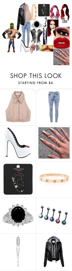 """A hardy and the Masked Man(Sin Cara(Hunico) Love Story)"" by anaeve ❤ liked on Polyvore featuring Cacharel, ONLY, TaylorSays, Topshop, Cartier and Givenchy"
