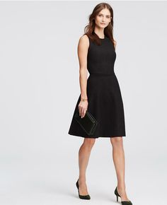 Petite Sleeveless Sweater Dress - Black