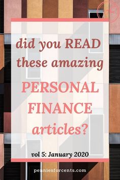 Looking to read some great personal finance blog posts? Here is a list of articles I have curated specially for you. Find out what I loved in January Finance Blog, Finance Tips, Low Stress Jobs, Best Budgeting Tools, Personal Finance Articles, Money Machine, Household Budget, Managing Money, Early Retirement