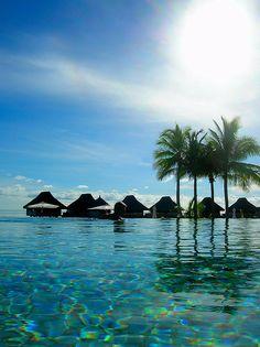 Bora Bora, French Polynesia - I am not a tropical kinda girl but I really want to travel here someday!!