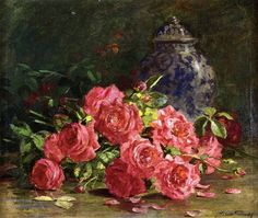 Still Life With Roses And Ginger Jar - Abbott Fuller Graves
