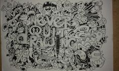 It's doodle which I learned from my art teacher ...