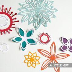 Neat papercut flower designs—summer bloom❣ A Little Hut