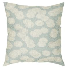 Cotton pillow with a blue cloud-inspired motif.  Product: PillowConstruction Material: Cotton cover and siliconi...