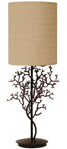 Coral Branch Lamp: Coastal Home Decor, Nautical Decor, Tropical Island Decor & Beach Furnishings