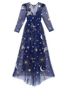 Gorgeous blue with moon and stars ~AS