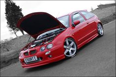 Nice red MG ZR.