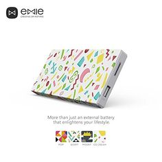 EMIE Memo *Just Shake it!* 10000mAh Ultra-thin 12mm for Mobile Devices (Ice Cream) #Emie #Powerbank