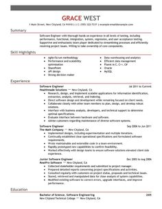 Real Software Engineering Internship Resume Template  Resume