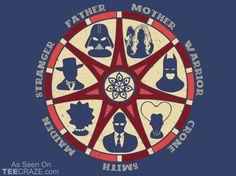 The Seven T-Shirt Designed by zort70    Source: http://teecraze.com/the-seven-t-shirt/