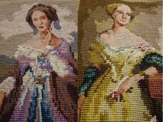 Needlepoint-Canvas-Elegant-Lady-Hand-Stitched