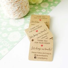 Small Business Mini Tags - Customised Thank You Tags - Gift Tags - Etsy Shop - Business Stationery - Product Packaging