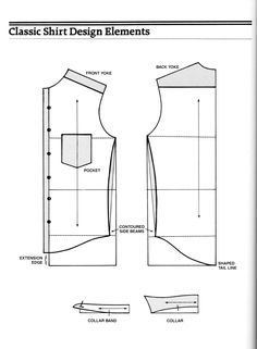Shirt Cutting - The Outfitter's Forum - The Cutter and Tailor Sewing Collars, Sewing Shirts, Sewing Pants, Mens Shirt Pattern, Jacket Pattern, Pattern Drafting Tutorials, Sewing Tutorials, Sewing Patterns, Camisa Slim