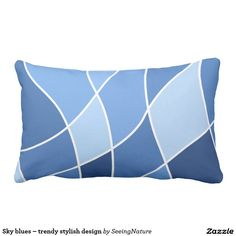 Sky blues – trendy stylish design lumbar pillow