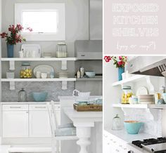 Styling recipe: Exposed kitchen shelves