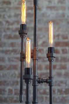Bare Bulb Floor Lamp  Industrial Floor Lamp  Gothic Lamp
