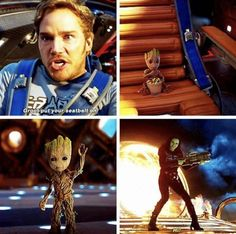 """Guardians of the Galaxy Vol. 2 --- I love that this movie is basically just gonna be """"The Adventures of Groot and His Parents"""""""
